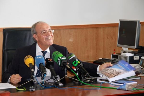 El fiscal general de Canarias, Vicente Garrido, ayer en rueda de prensa celebrada en Las Palmas. / DA