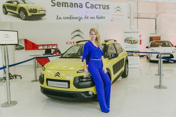 Naomi Álvarez pudo disfrutar del nuevo Citroën C4 Cactus. / DA