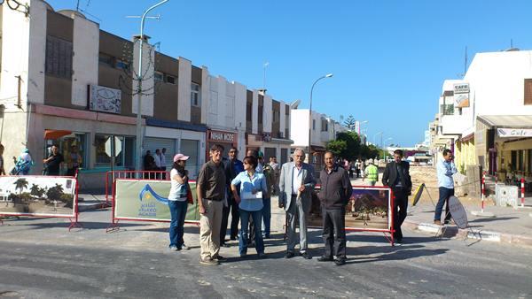 Imagen de las obras de regeneración de la zona comercial de Talborjt, en Agadir | DA