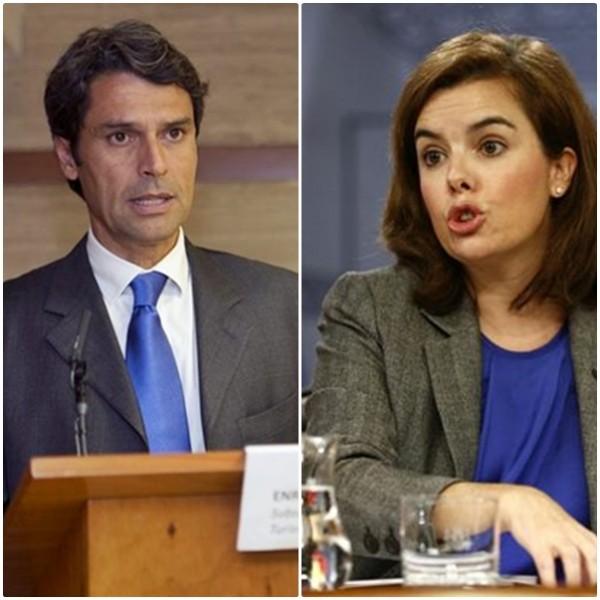 Enrique Hernández Bento y Soraya Sáenz de Santamaría. / DA
