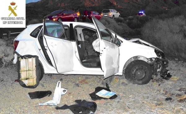 Estado del vehículo donde robaron las arrestadas. | DA