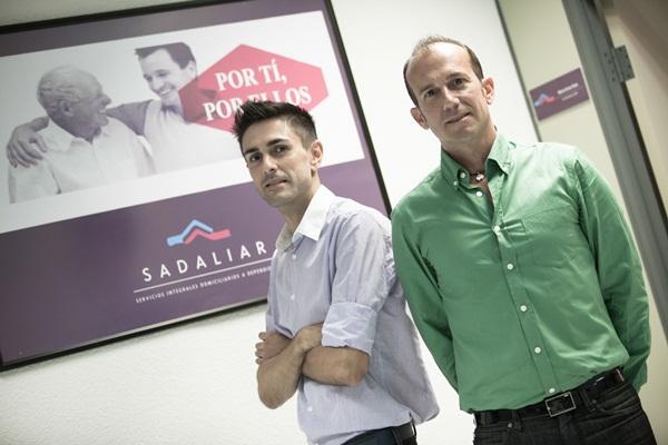 Adolfo Pintor y Raúl Santos son los fundadores de la empresa de Servicios Integrales Domiciliarios a Dependientes Sadaliar. / DA