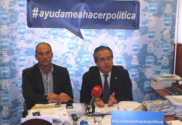 Guillermo Meca y Antonio Alarcó, ayer durante la rueda de prensa. / DA