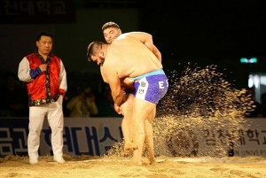 Alvaro Deniz y Marcos Ledesma final Mundial Lucha Ssireum 2014