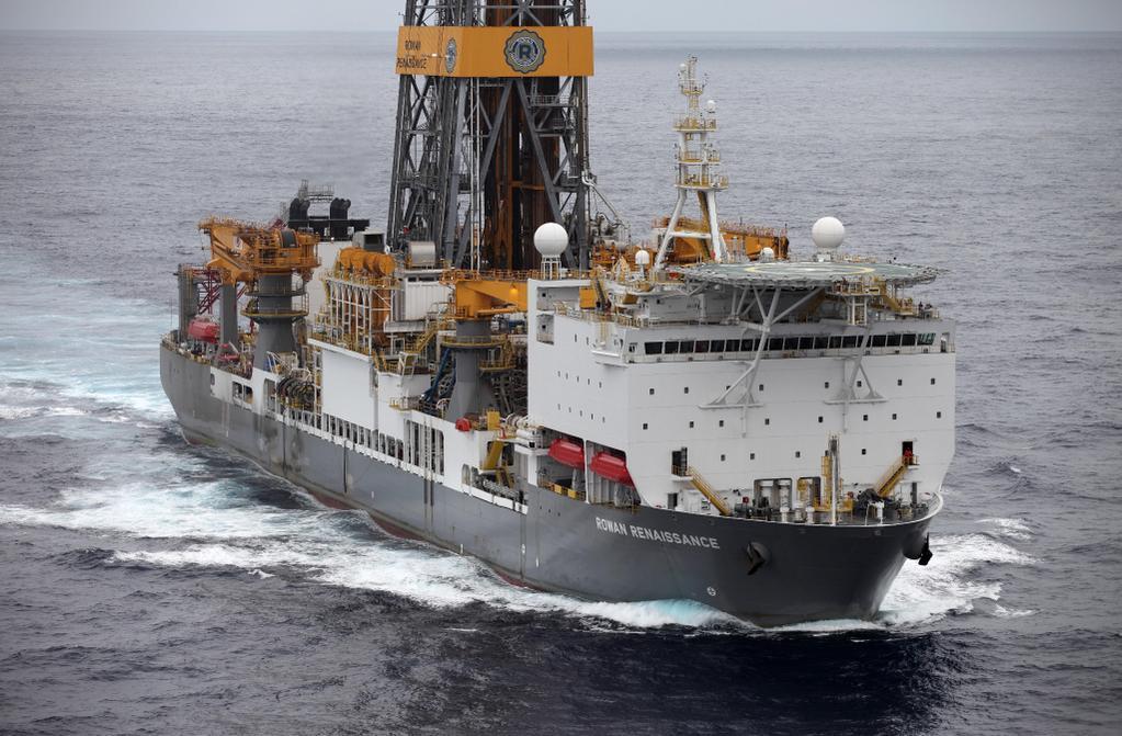 Rowan Reinassance es el buque con el que la petrolera pretende sondear las aguas de Canarias. / GREENPEACE