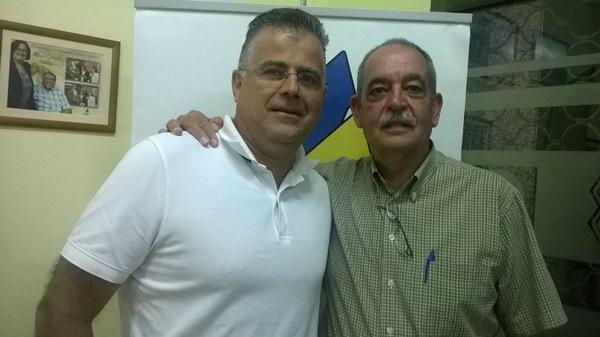 Antonio Sosa y Miguel Ángel Méndez, ayer tras presentar sus candidaturas. / NORCHI