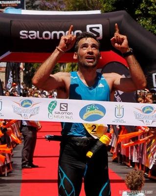Luis Alberto cruza la meta durante la pasada edición. / DA
