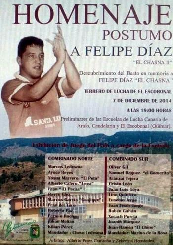 Cartel homenaje a Felipe Diaz el chasna