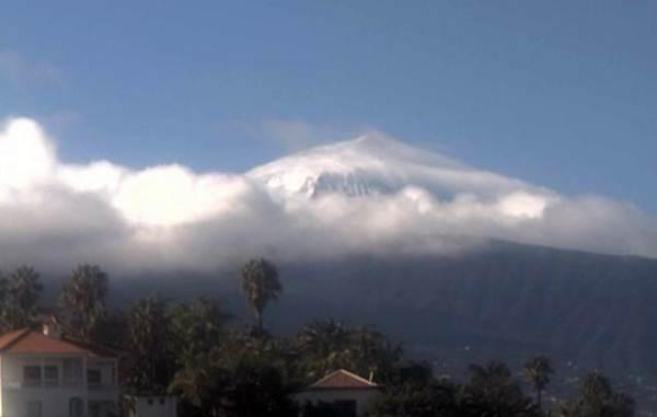 Imagen del Teide desde una webcam de Santa Úrsula. | DA