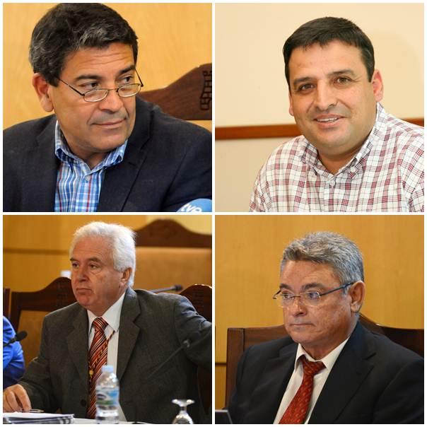 García, Ramos, Arencibia y Gil tienen acta de concejal desde 1991.   DA