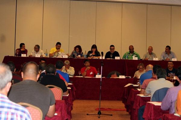 Una imagen de la asamblea celebrada en Lanzarote. / DA