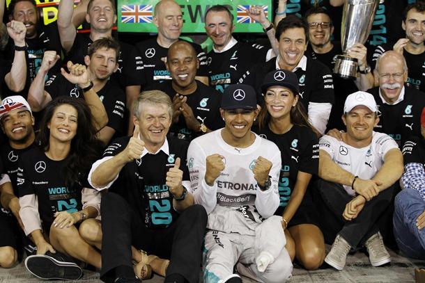 Lewis Hamilton Mercedes Campeón del Mundo de Formula 1