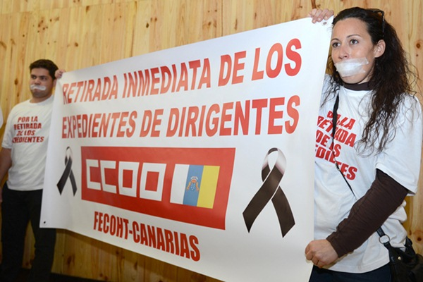 La mayoría de CC.OO. en Canarias se siente arrinconada por la minoría. / SERGIO MÉNDEZ