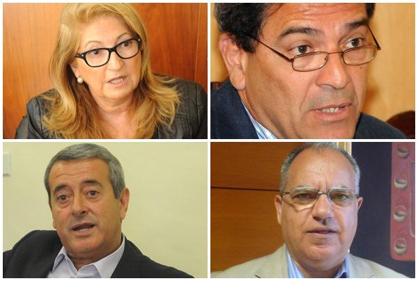 Ana Lupe Mora, Gumersindo García, Aurelio Abreu y Casimiro Curbelo. / DA