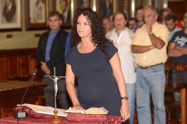 Sonia García fue la primera en jurar el cargo. / S.M.