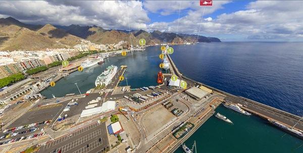 La aplicación presentada por la Autoridad Portuaria ofrece un recorrido virtual por el recinto del puerto. / DA