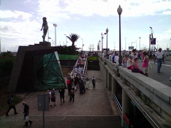 El turismo de cruceros es uno de los responsables del cambio de tendencia que comienza a apreciarse. / DA