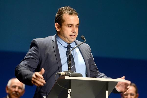 Juan Carlos Padrón, Premio Manuel Iglesias. | S. MÉNDEZ