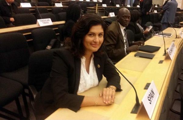 Carmen Luisa Castro antes de intervenir en la Conferencia de Naciones Unidas. /SA