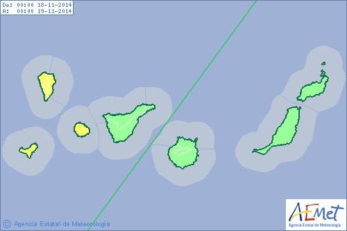 Aviso amarillo en La Palma, La Gomera y El Hierro para este martes. | DA