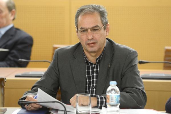 El consejero de Carreteras del Cabildo compareció ayer a petición del Partido Popular. / SERGIO MÉNDEZ