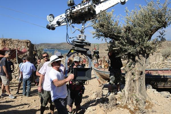 Imagen del rodaje de Ira de Titanes, una de las superproducciones que se hicieron en Tenerife. / DA