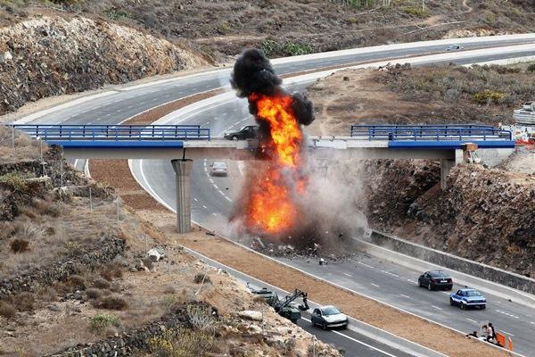 Imagen del rodaje de una de las superproducciones que se hicieron en Tenerife. / DA