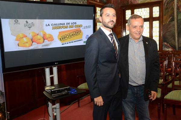 Jonay López y Efraín Medina, ayer, durante la presentación de la nueva edición de la feria. / DA