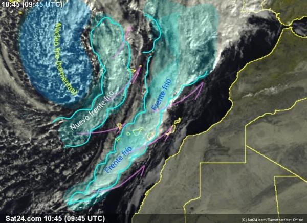 Frentes fríos que atraviesan Canarias. | DA