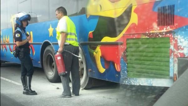 El conductor extinguió el conato con el extintor del vehículo. / BolorinoArmani