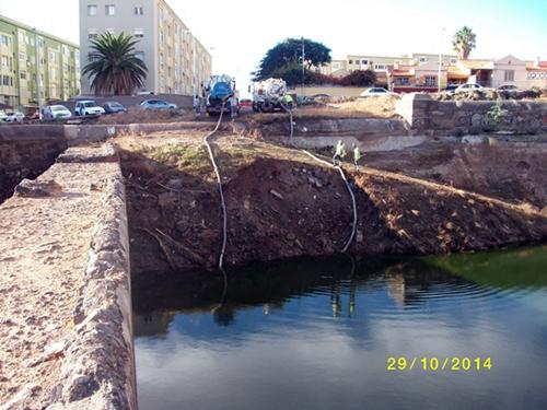 Estado de la zona antes de que se produjera la extracción del agua de la presa. / DA