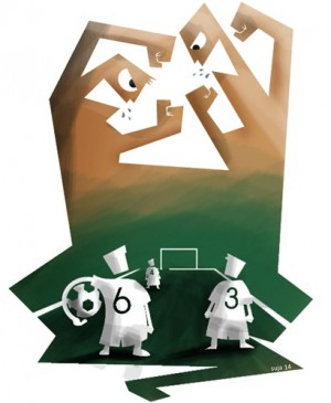Numerosas iniciativas se están llevando a cabo por los distintos organismos para arrinconar a los violentos en el fútbol de formación. / SUJA14