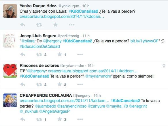 Los usuarios pueden unirse usando el hastag #kddCanarias2. / DA