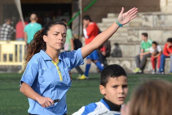 Marta Huerta de Aza, árbitro del grupo canario de tercera división. / SERGIO MÉNDEZ