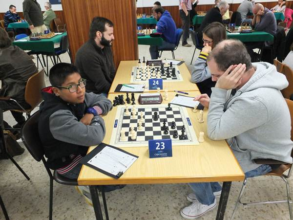 Alberto Álvarez, durante la quinta ronda. / j.L.F.