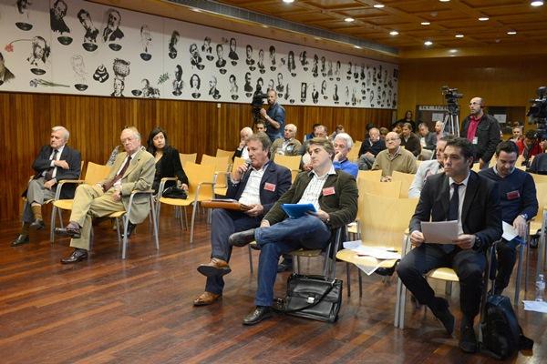 Durante la asamblea del CD Tenerife. / S.M.