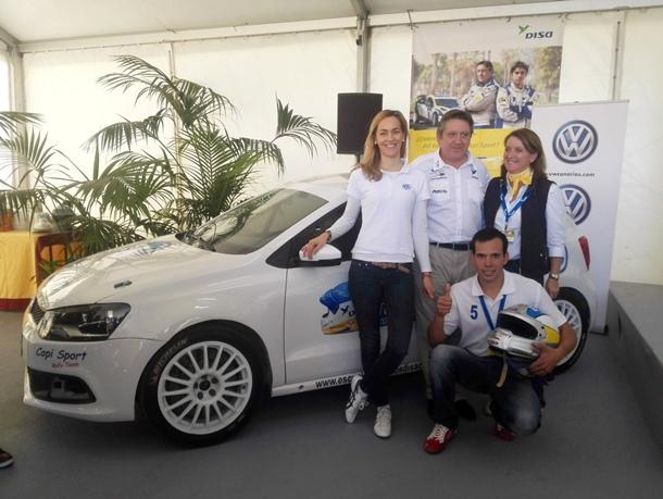 Daniel Santana piloto Copi Sport Magüi MeliánFernando Capdevila Loli Saavedra DISA