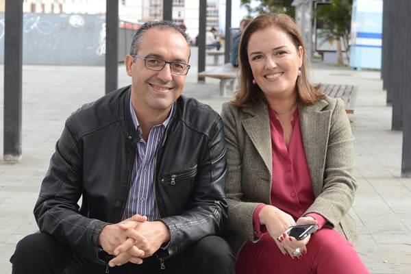 Elena Robayna y Ginés Venazco unieron sus conocimientos empresariales e informáticos para crear la aplicación. | SERGIO MÉNDEZ