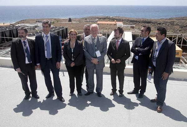 Desde su inauguración (en la imagen) el proyecto no ha dejado de avanzar y Tenerife es hoy escala en el mapa de las telecomunicaciones.   DA