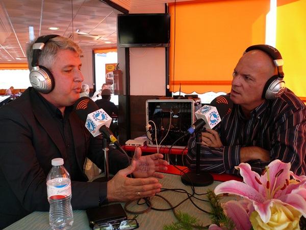 Lemes, en el programa radiofónico de José Manuel Pitti. / DA
