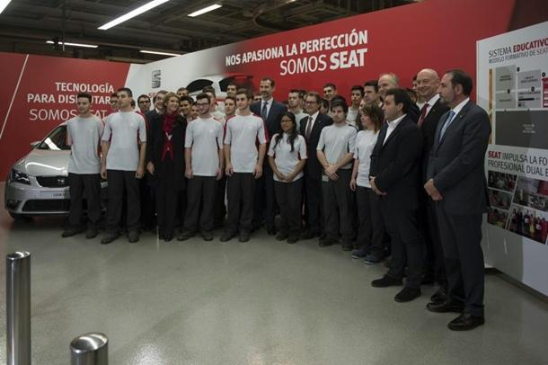 Seat Formación Profesional dual junto al Rey Felipe VI