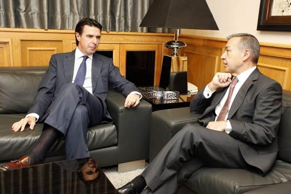 Soria y Rivero,  en una foto de archivo, durante una de sus pocas reuniones en la presente legislatura. | DA