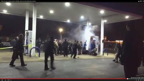 Captura del video donde se observan los disturbios posteriores al tiroteo. | DA