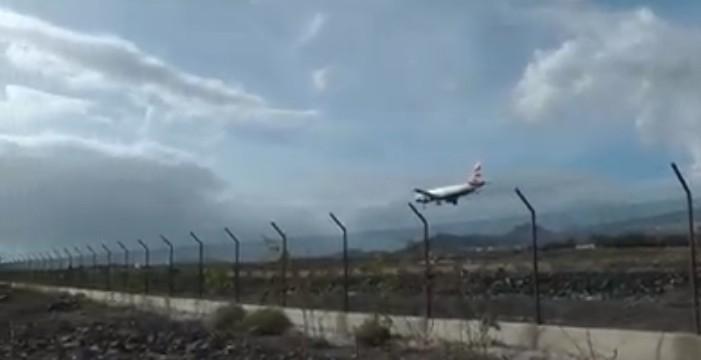 Así de difícil se lo puso el viento a los pilotos en Tenerife