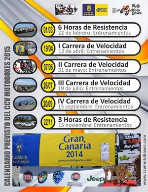 Calendario CCVMotoBoxes 2015