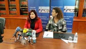Imagen de Beatriz Barrera (izq.) y Milagros Luis durante la rueda de prensa de ayer en Las Palmas. / DA