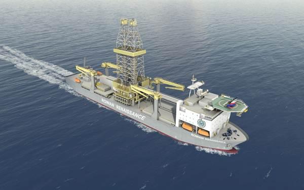 El buque de posicionamiento dinámico Rowan Renaissance, alquilado por Repsol. | DA