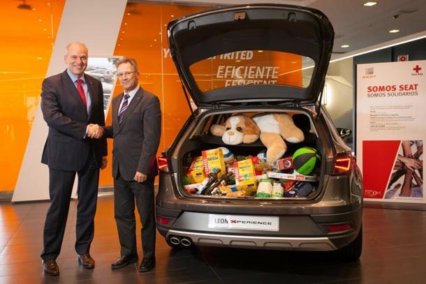 Jürgen Stackmann SEAT y Javier Senent Cruz Roja