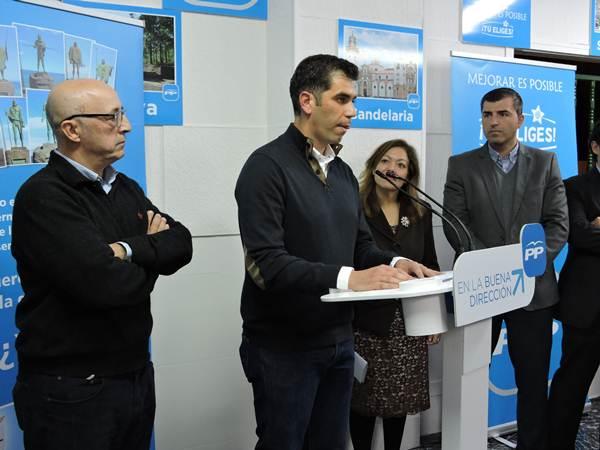 Juan Miguel Olivera, en su primer discurso como presidente de la gestora del PP en Candelaria. | NORCHI