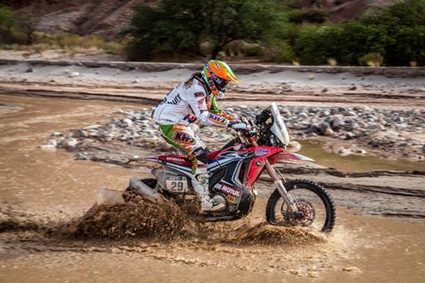 Laia Sanz (Honda) Dakar 2015
